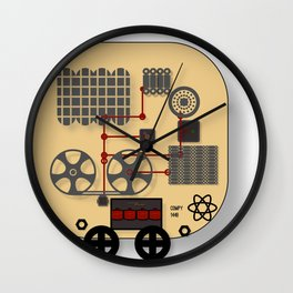 Recording Robot Wall Clock