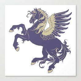Blue Rearing Pegasus Canvas Print