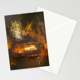 Exploding vibrant sunset Stationery Cards