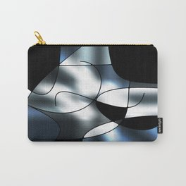 ABSTRACT CURVES #1 (Black, Grays & White) Carry-All Pouch