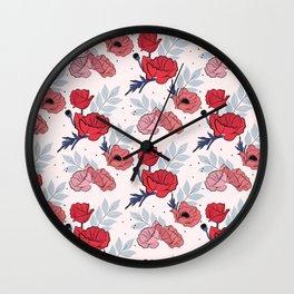 Floral crib sheet Wall Clock