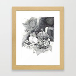 Alien Skull Framed Art Print