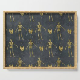 Skulls, Skeletons, Stars Serving Tray