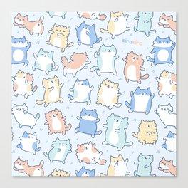 Kitty Dance Off! Canvas Print