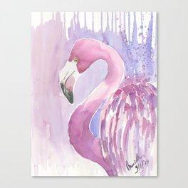 Lonely Flamingo Canvas Print