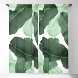 Green Banana Leaf Blackout Curtain
