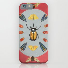 Beetle and Butterfly Symmetry iPhone Case