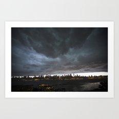 New York Before the Storm Art Print
