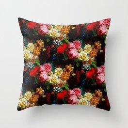 baroque flora Throw Pillow