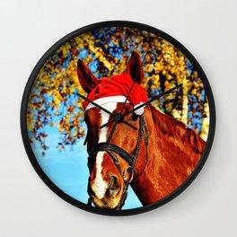 HoHoHo Horse Wall Clock