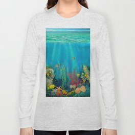 Undersea Art With Coral Long Sleeve T-shirt