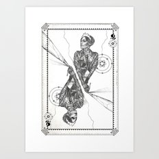 Queen of Carbon II Art Print