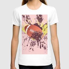 Grunge Rugby ball T-shirt