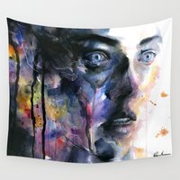 frozen Wall Tapestries featuring Frozen by agnes-cecile