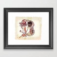 my organic alphabet - Letter B Framed Art Print