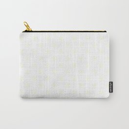 Cream Yellow on White Snowflakes Carry-All Pouch