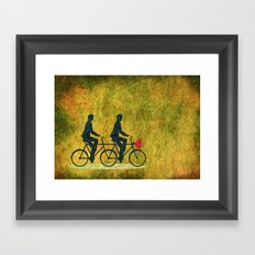 On Wheel Love Framed Art Print