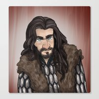 thorin Canvas Prints featuring Thorin by quietsnooze