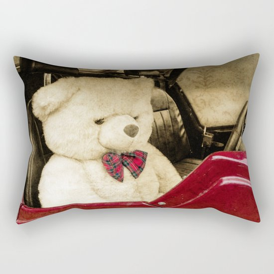 TEDDY GOES FOR A DRIVE Rectangular Pillow