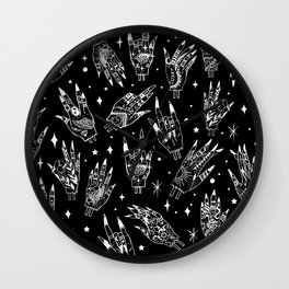 Floating Witchy Goth Hands Wall Clock