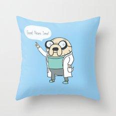 Good News Time! Throw Pillow