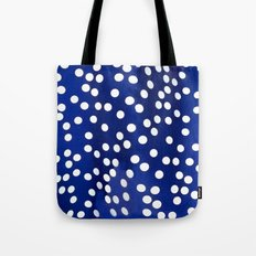 Blue Polka Dots Tote Bag