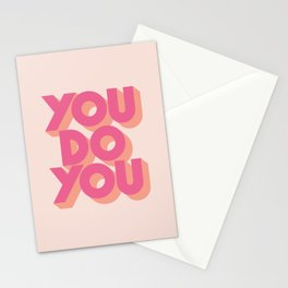 You Do You Block Type Pink Stationery Cards