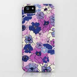 Red Violet and Navy Anemones iPhone Case