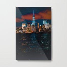 New York City Lights and Lake (Color) Metal Print