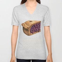 Blueberry Pie Slice Unisex V-Neck