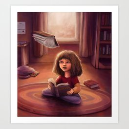 Little Bookworm Art Print