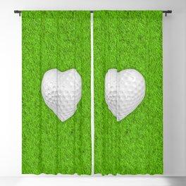 Golf ball heart / 3D render of heart shaped golf ball Blackout Curtain