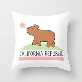 Kawaii California Republic Throw Pillow