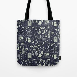 Fairy Garden: Midnight Tote Bag
