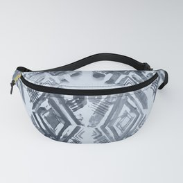 Simply Ikat Ink in Indigo Blue on Sky Blue Fanny Pack