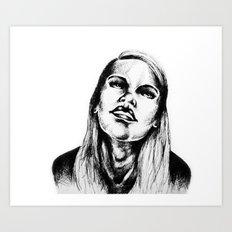 Head Back Art Print