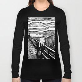 THE SCREAM - EDVARD MUNCH - LITHOGRAPH Long Sleeve T-shirt