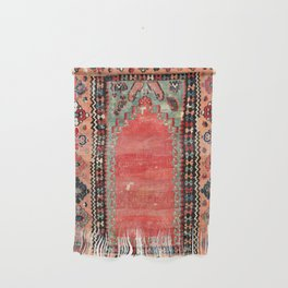 Sivas  Antique Cappadocian Turkish Niche Kilim Print Wall Hanging