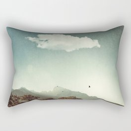 Mountain Sunrise in Backlight Rectangular Pillow