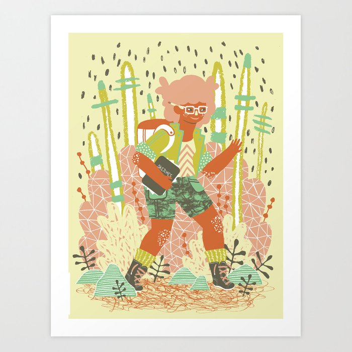 Searching for Inspiration Art Print