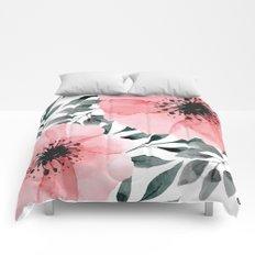 Big Watercolor Flowers Comforters