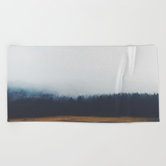 Dreary Landscape forest Beach Towel