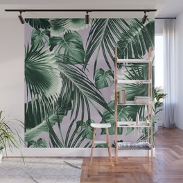 Tropical Jungle Leaves Dream #8 #tropical #decor #art #society6 Wall Mural