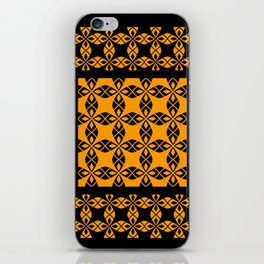 African Ethnic Pattern Black and Orange iPhone Skin