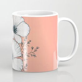 windflowers at dusk / botanical line drawing Coffee Mug