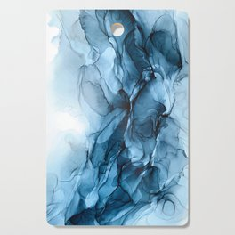 Deep Blue Flowing Water Abstract Painting Cutting Board
