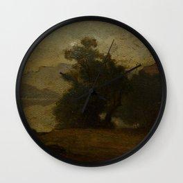 Jean-Baptiste-Camille Corot - Paysage avec un lac Wall Clock