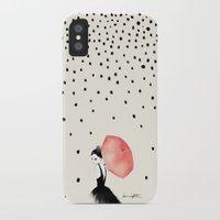 elegant iPhone & iPod Cases featuring Polka Rain by Karen Hofstetter