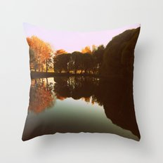 trees reflections Throw Pillow