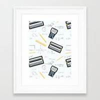 math Framed Art Prints featuring Math by S. Vaeth